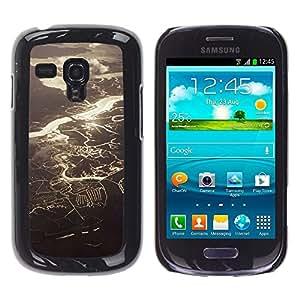 Caucho caso de Shell duro de la cubierta de accesorios de protección BY RAYDREAMMM - Samsung Galaxy S3 MINI NOT REGULAR! I8190 I8190N - View Rivers Lakes Sunshine