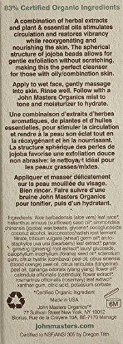 John Masters Organics Exfoliating Face Cleanser, Jojoba and Ginseng, 4 Ounce