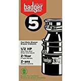 InSinkErator Badger 5 Garbage Disposal with Power Cord, 1/2 HP