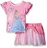 Disney Girls' Cinderella Flutter Sleeve Top and Skirt Set