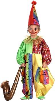 El Rey del Carnaval Disfraz DE Payaso Clown Talla Infantil (Talla 3 ...