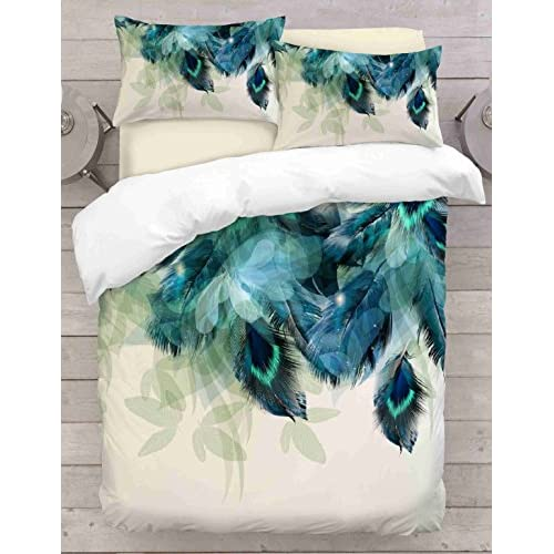 Wholesale Jennifer Davidson Feather 3D Feather Peacock Duvet Cover UK Made By (DOUBLE) hot sale