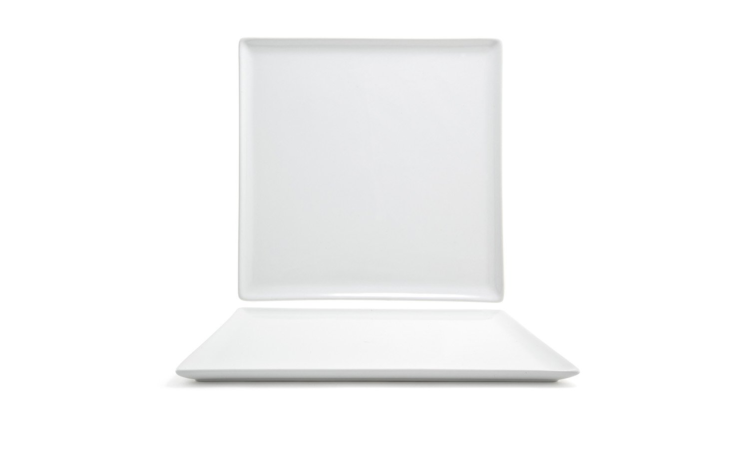 Front of the House DOS005WHP21 Mod Square Plate, 0.5'' Height, 12'' width, 12'' Length, Porcelain, White (Pack of 4)