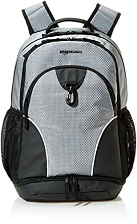 AmazonBasics Sports Backpack, Grey