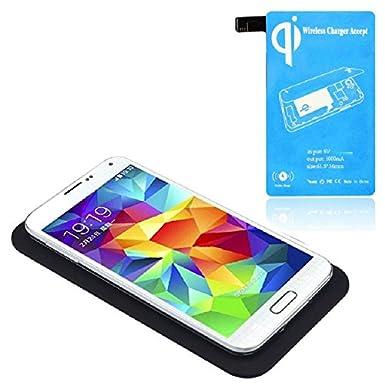 Tonsee - Cargador inalámbrico Qi carga Pad + receptor kit ...