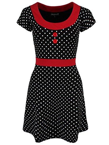 Sourpuss-Womens-Polka-Dot-Beki-Dress-Black