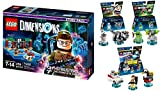 LEGO Dimensions Ghostbusters Themed Bundle (Set of 4) 71242 Story Pack, 71228 Level Pack Peter Venkman, 71233 Stay Puft Bibendum Chamallow, 71241 Slimer