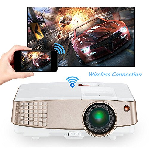 Portable HD Wireless Airplay Projector for...