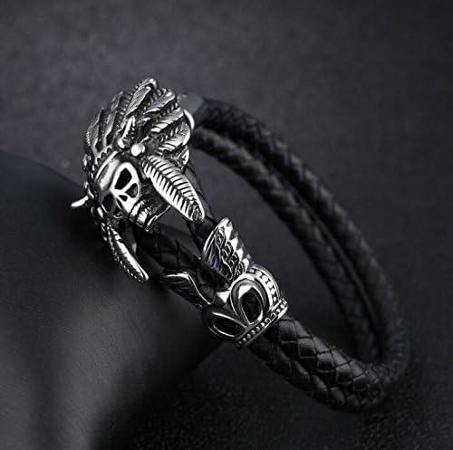 YOIOY Fashion Braided PU Leather Bracelets Elegant for Men Bangle Bracelets