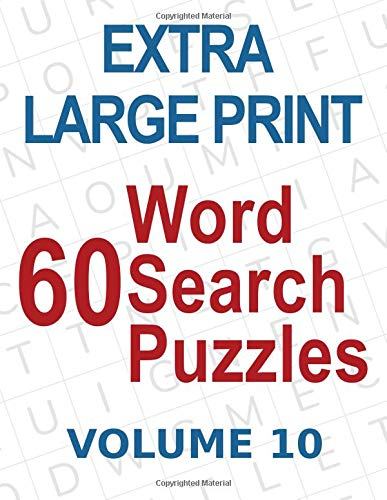 Pdf Entertainment 60 Extra Large Print Word Search Puzzles: Big Font Find a Word for Adults & Seniors, Volume 10