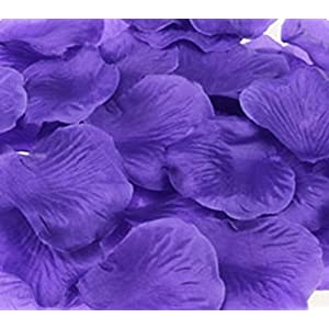 1000pcs Deep Purple Silk Rose Petals Bouquet Artificial Flower Wedding Party Aisle Decor Tabl Scatters Confett 11