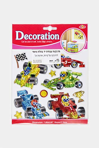 Classic Race Cars stickers Colorful Wall Decals For Kids Lively Locker Decorations Removable Wall Stickers Excellent For DIY Children's Furniture Design Boys Wall -