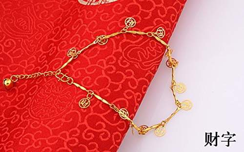 o-rose chain anklet POLPEP vietnam alluvial gold-plated 24k gold simulation anklets women girls each child fade eventually becoming european currencies jewelry