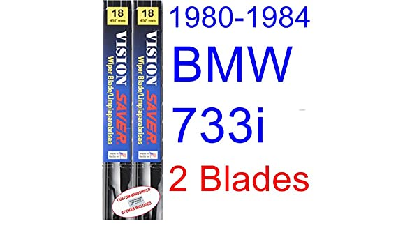 Amazon.com: 1980-1984 BMW 733i Replacement Wiper Blade Set/Kit (Set of 2 Blades) (Saver Automotive Products-Vision Saver) (1981,1982,1983): Automotive