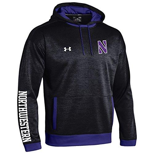 Under Armour NCAA Northwestern Wildcats Men's Momentum Sideline Storm Fleece Hoodie, XX-Large, Black