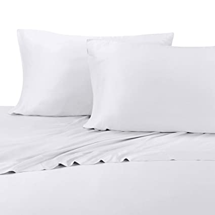 Full White Silky Soft Bed Sheets 100% Rayon From Bamboo Sheet Set