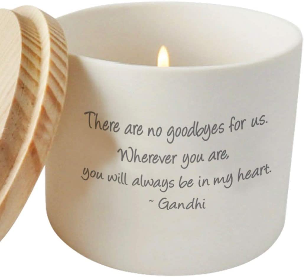The Cherished Company Memorial Gifts Sympathy Candle Holder   Thinking of You Gift   Bereavement Gift   Sorry for Your Loss