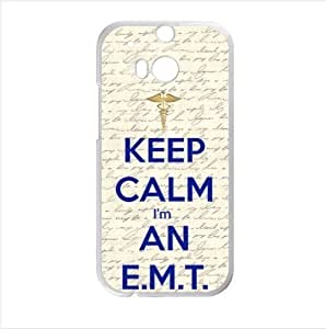 "Best Custom EMT Series Case ""Keep Calm,I'm An E.M.T"" HTC One M8 (Laser Technology) Case, Cell Phone Cover"