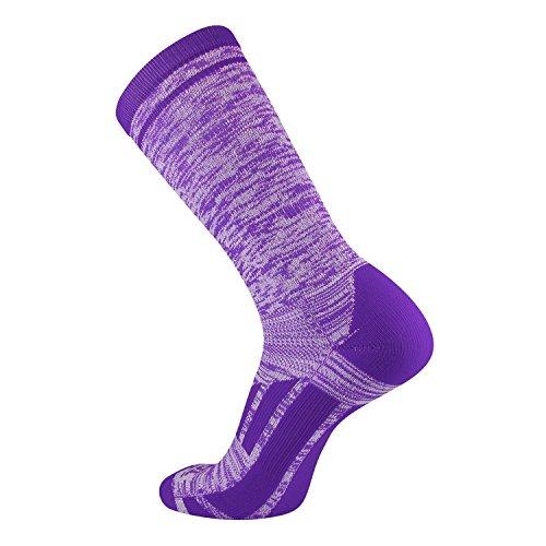 - TCK Sports Elite Heather Performance Socks, Purple, Large