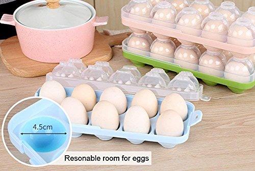 Kühlschrank Eierhalter 10 : Dubens eierhalter kühlschrank eierbehälter mit deckel für 10 eier