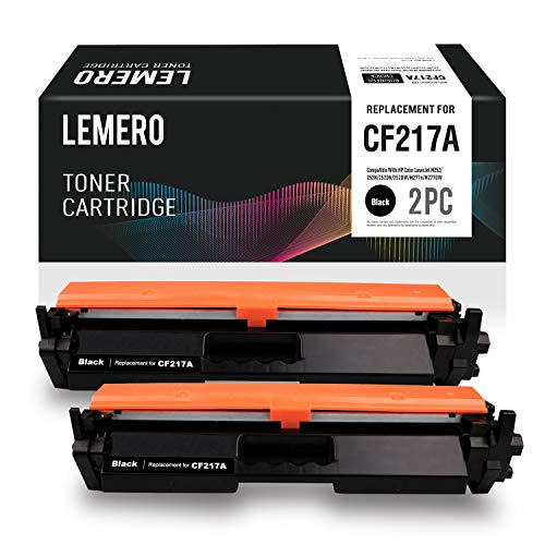 LEMERO Replacement for HP 17A CF217A Toner Cartridge with Chip - for HP Laserjet Pro M102w Laserjet Pro MFP M130fw M130nw M130fn (2 -