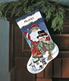"Dimensions Santa & Snowman Stocking Counted Cross Stitch Kit: 16"" Long"