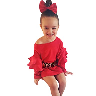 Amazon.com: Baby Girls Dress, Fineser Toddler Kids Baby Girl ...