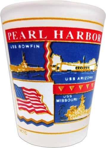 Pearl Harbor Shot Glass 2 Oz.
