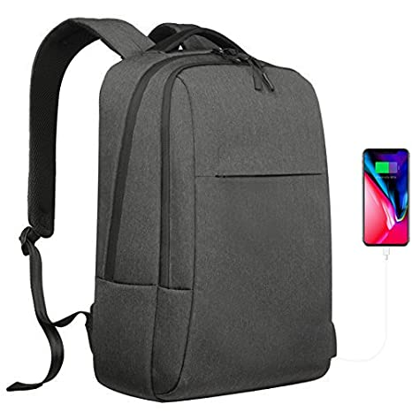 e99aec4d7917 YsinoBear Laptop Backpack Business School Bag Daypack Waterproof School  Rucksack with USB Charging Port Computer Bag