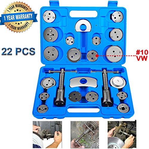 Vinkki 22pcs Brake Caliper Wind Back Tool Heavy Duty Disc Brake Piston Caliper Compressor Tool kit...