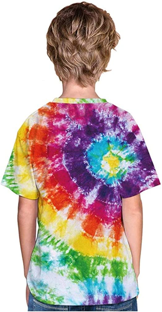 Mama Loves Kids Tshirts Boys Tiedye 80s Paisley Print Tie Dye Outfit for Girls Tiedye Tshirt Toddler
