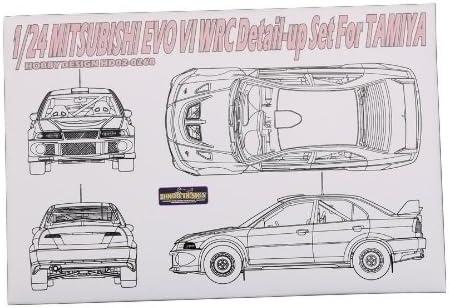 1/24 三菱 ランサー エボリューション ランエボ Ⅵ WRC レジン、エッチングパーツ タミヤ Hobby Design H