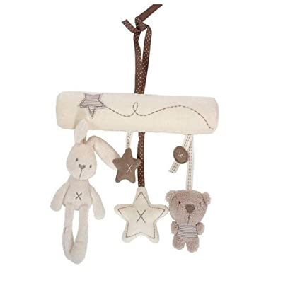 MAJINCGJ Newborn Baby Toy Baby Music Pendant Toy 0-12 Months Rabbit Bed Bell Bed Rattle Baby Stroller Wind Chime Fabric : Baby