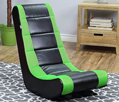 Crew Furniture Original Classic Video Rocker Style in Black/Neon Green