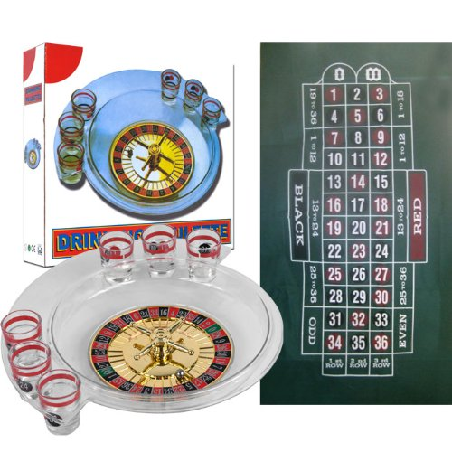 Trademark Poker The Spins Roulette Drinking Game and Layout by TGT by Trademark Commerce