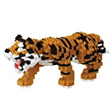 Nanoblock Deluxe Bengal Tiger Building Kit, Orange