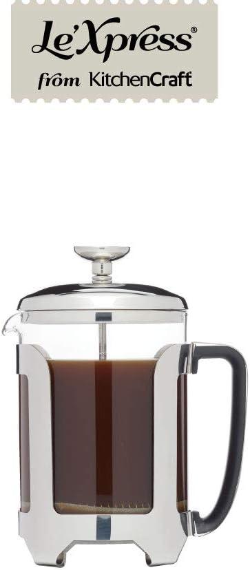 KitchenCraft KCLXCAFE4CP - Cafetera pequeña metálica: Amazon.es: Hogar