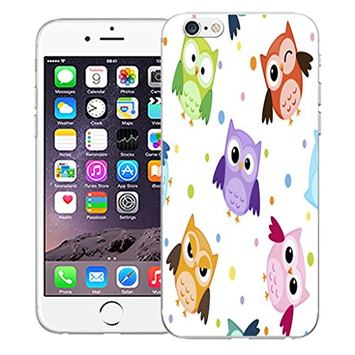 """Mobile Case Mate iPhone 6 4.7"""" Silicone Coque couverture case cover Pare-chocs + STYLET - Baby Owl pattern (SILICON)"""