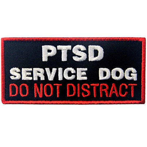 Service Dog Patch Vests/Harnesses PTSD Do Not Distract Applique Embroidered Fastener Hook & Loop Emblem