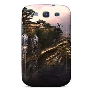 New Premium LN-4234-DWyYx Case Cover For Galaxy S3/ Dragon Castle Protective Case Cover