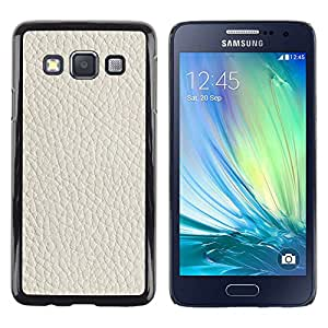 For Samsung Galaxy A3 - White Tan Leather Imitation /Modelo de la piel protectora de la cubierta del caso/ - Super Marley Shop -