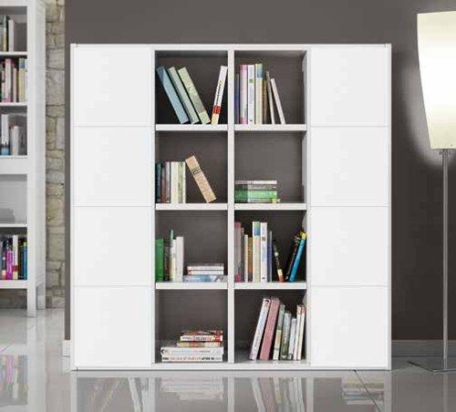 Bücherregal Wohnzimmer Wohnwand weiß Esche 16 Elemente 8 Antine ...
