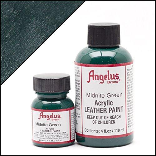 Angelus Brand Acrylic Leather Paint Waterproof 1oz - Midnite Green