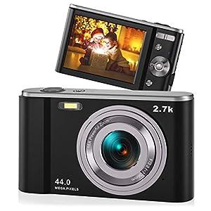 Best Epic Trends 51VhM9LD4mL._SS300_ 2.7K Digital Camera AiTechny Vlogging Camcorder 44MP Kids Camera, 16X Digital Zoom Compact Camera, Rechargeable Mini…