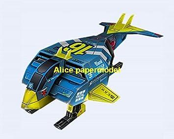 Amazon.com: [Alice papermodel] futuro prototipo azul volando ...