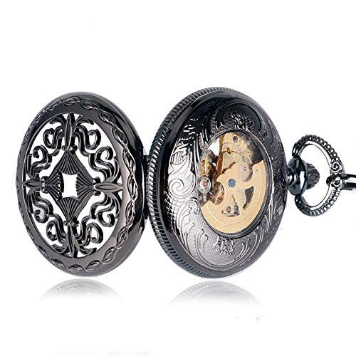 YGB Vintage fickur brons antik vintage spindelnät ihåligt hänge halsband kvarts fickur män kvinnor unik tröja halsband steampunk klocka