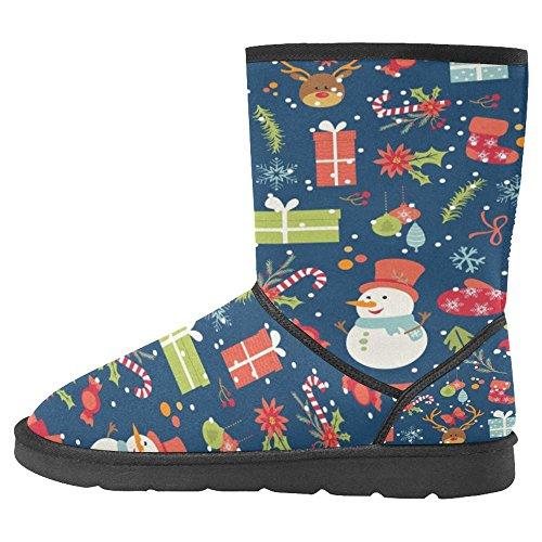 Snow Stivali Da Donna Di Interestprint Stivali Invernali Comfort Dal Design Unico Multi 13