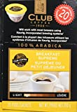 Club Coffee One Cup Breakfast Blend Coffee, Keurig Compatible, 20-Count