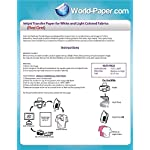 Ink Jet Printer Heat Transfer Papers – Red Grid – 8.5″ x 11″ 100 Sheets