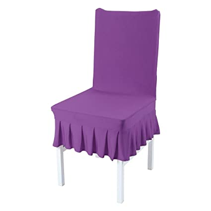 Groovy Uxcell Dining Chair Covers Ruffled Skirt Stool Slipcover Stretch Spandex Chair Protectors Short Kitchen Chair Seat Cover For Home Dining Room Party Gmtry Best Dining Table And Chair Ideas Images Gmtryco
